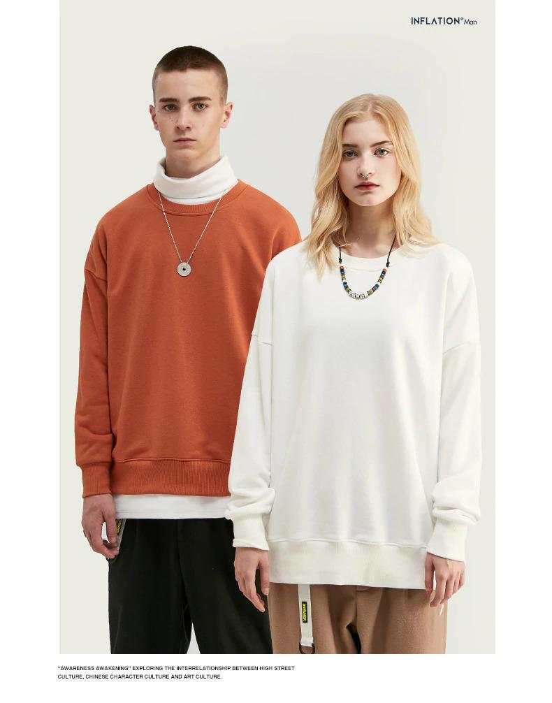 スウェットシャツ,白色,ドロップショルダー