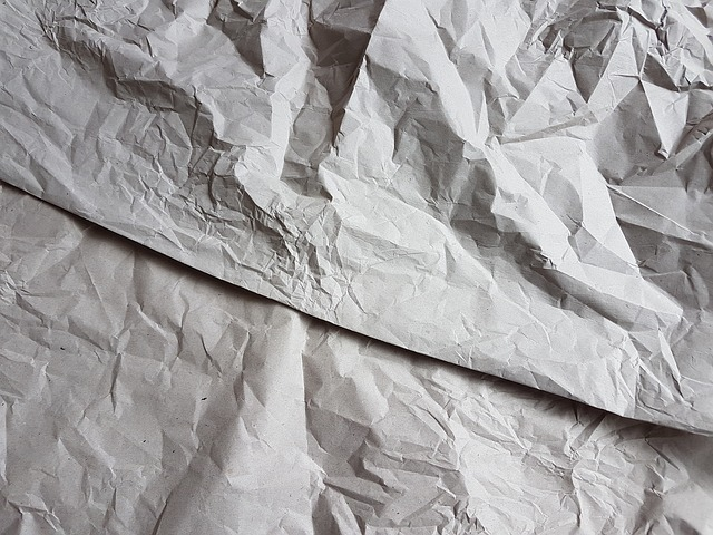 しわが付いた紙