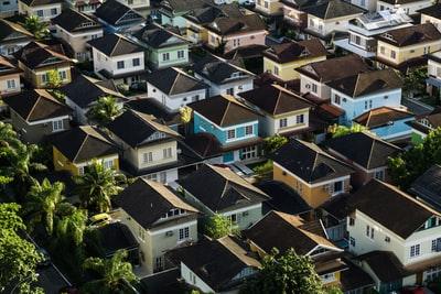 沢山の家が建ち並んでいる