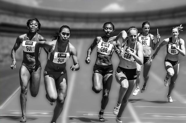 女性の100m走