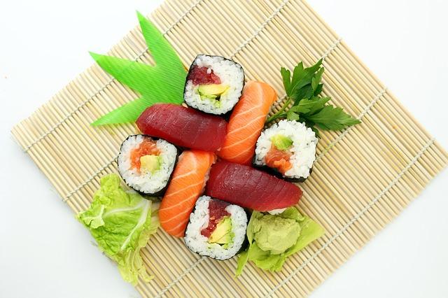 綺麗に並べられた寿司